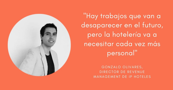 Imagen de Gonzalo Olivares director de revenue management de ip hoteles, empresa que ofrece soluciones de tecnologia para la gestion de hoteles independientes